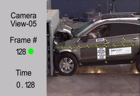 cadilac crash test