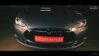 тесла автомобиль тест драйв стиллавин зимний