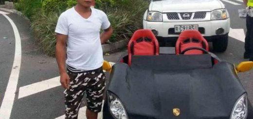 Водителя оштрафовали за езду на самодельном Porsche
